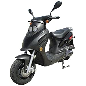 Dash TPGS-804 Gas 49cc Moped Scooter w/ Rear Mounted Storage Trunk