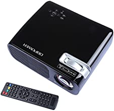 DBPOWE RVideo Projector 800480 2600 Lumens HD Home Theater Multimedia LCD Projector 1080P HDMI USB T