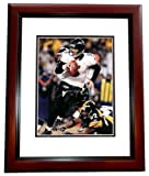 Joe Flacco Autographed / Hand Signed Baltimore Ravens 8x10 Photo - FREE SHIPPING - MAHOGANY CUSTOM FRAME at Amazon.com