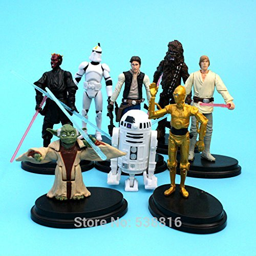 8pcs/set Star Wars Yoda The Black Knight Clone Trooper PVC Action Figures Toy 7-11CM Dolls Kids GIft