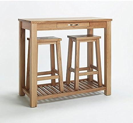 SHERWOOD OAK BREAKFAST TABLE WITH STOOLS