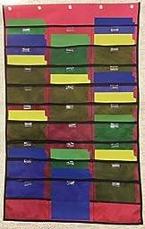 Casemate Red Letter Size Hanging 27 Pocket File Folder Teacher Classroom Home School Organizer Teaching Supplies Craft Workshop Garage by Case-Mate