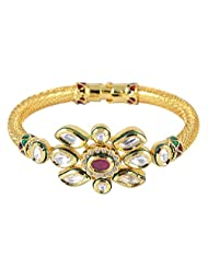Indian Fashion Style Gold Plated Beautiful Bangles/Bracelet Set Kundan Jewelry