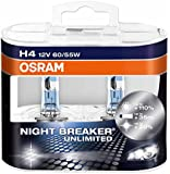OSRAM NIGHT BREAKER® UNLIMITED H4, Frontscheinwerfer, 64193NBU-HCB, 12V, Duobox