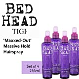 'Maxxed Out' Massive Hold Hairspray *Set of 4* by TIGI Bed Head (236ml each).