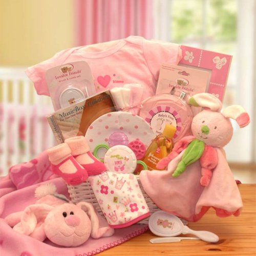 Gift Basket Drop Shipping Hunny Bunny'S New Baby Gift Basket, Gift Basket front-339217