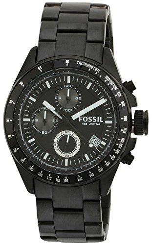 Fossil Herren-Armbanduhr Chronograph Edelstahl schwarz Sport Gents CH2601