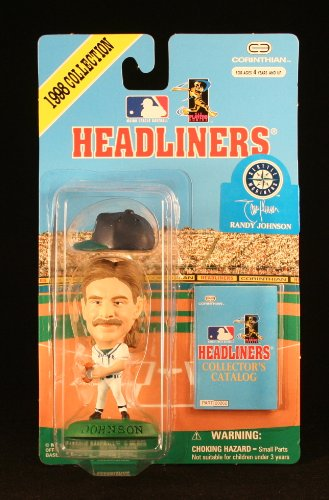 RANDY JOHNSON / SEATTLE MARINERS * 3 INCH * 1998 MLB Headliners Baseball Collector Figure