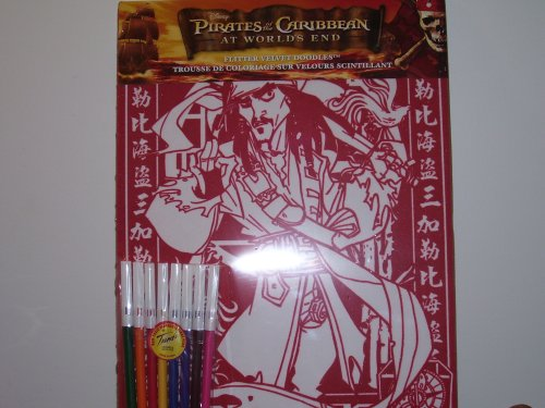 Disney Pirates of the Caribbean At World End Flitter Velvet Doodles