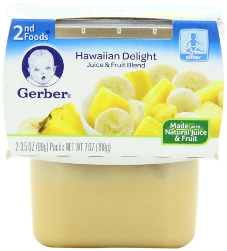 Gerber 2nd Foods Hawaiian Delight Dessert, 2-Count, 3.5-Ounce Tubs (Pack of 8) (Gerber Baby Food Hawaiian Delight compare prices)
