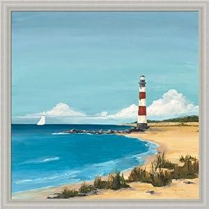 Amazon.com: Sandy Point by Avery Tillmon Lighthouse Beach Scene 20x20