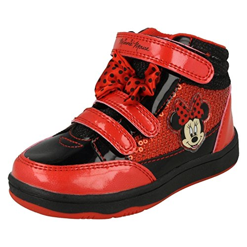 "Ragazze Disney Minnie Mouse ""Solano Hi Top Trainer, rosso (Red), 28 EU Junior J"