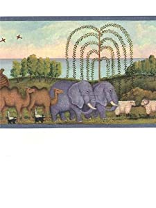 Wallpaper Border Noah's Ark and Animals