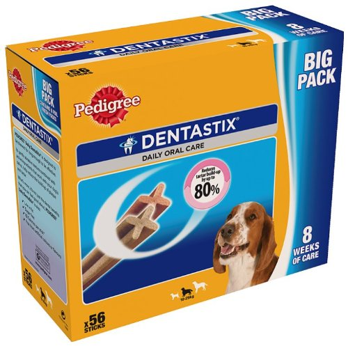 PEDIGREE Dentastix for Medium Dogs 56 sticks 1440 g (Pack of 4)