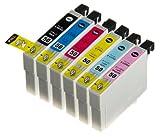 (6色セット) InkHero USA Epson IC6CL50  エプソン【互換インクカートリッジ】 (プリンター カラリオ EP-302, EP-4004, EP-704A, EP-774A, EP-801A, EP-802A, EP-803A, EP-804A, EP-804AW, EP-901A, EP-904A, PM-A820, PM-A840, PM-A840S, PM-A920, PM-G4500, PM-G860, PM-T960)