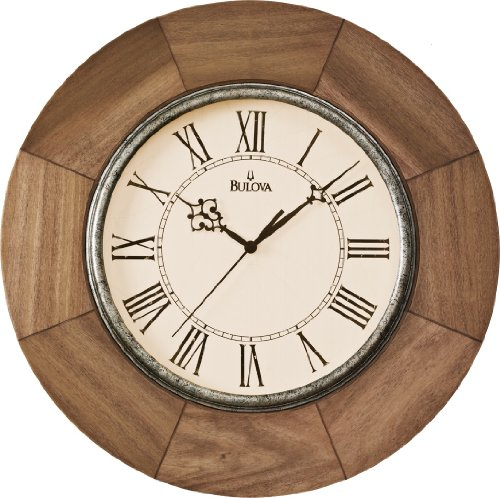 where to buy bulova dakota 14 round wooden wall clock