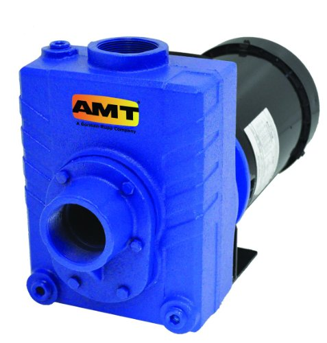 "Amt Pump 276A-98 Self-Priming Centrifugal Pump, Cast Stainless Steel, 3 Hp, 1 Phase, 230V, Curve B, 2"" Npt Female Suction & Discharge Ports"