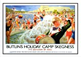 Butlins Skegness - Reproduction Vintage Railway - sea-side - trainspotting - A3 Poster