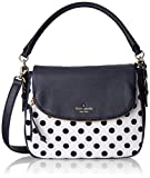 kate spade new york Cobble Hill Canvas Dot Small Devin Top Handle Bag, Offshore/White, One Size