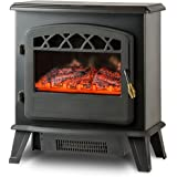 Frigidaire ORF-10340 Ottawa Retro Style Floor Standing Electric Fireplace, Black