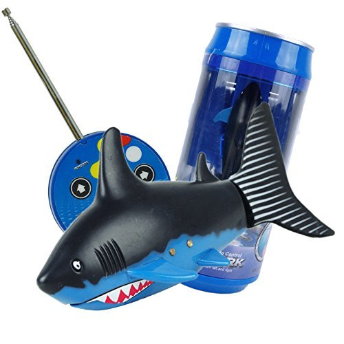 YORKING™ Coke Can Radio Remote Control RC Super Mini ELECTRIC Shark Fish Boat Kids Toy(Blue) (Shark Tank Products For Kids compare prices)