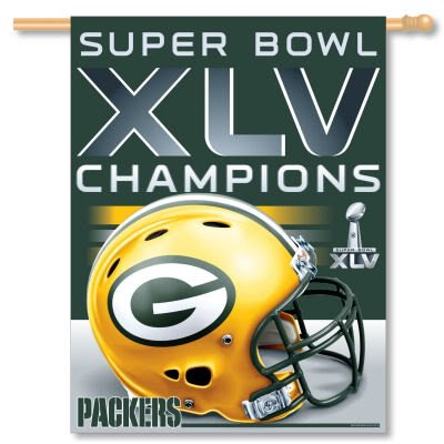 Green Bay Packers Super Bowl XLV 45 Champs Flag