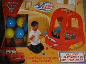 Cars Lightning Mcqueen Silly Racer with 20 Balls