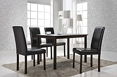 Andrew Modern Dining Chair with Chanasya Polish Cloth Bundle (Set of Four)