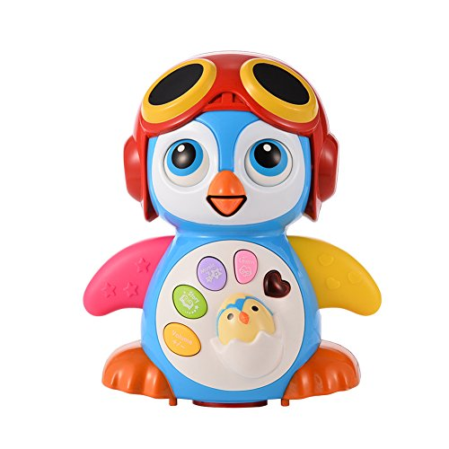 Acefun Baby Musical Smart Swing Penguin Toys for Baby Intelligence Training with Light
