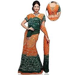 Kiran Udyog Orange Black Rajasthani Traditional Lehenga 702