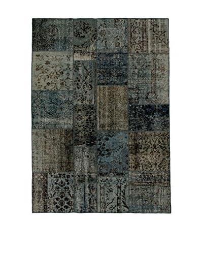 Design Community By Loomier Teppich Anatolian Patchwork grau/blau