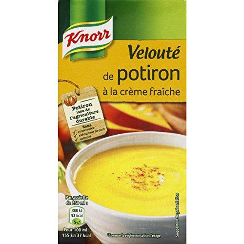Knorr - Velouté de potiron à la crème fraîche, potage liquide - La brique de 0,5L - (pour la quantité plus que 1 nous vous remboursons le port supplémentaire)