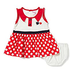 Camey Girls Red Hearts Frock Set (18-24 months)
