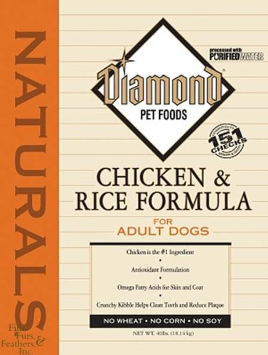 Diamond Naturals Dry Food for Adult Dogs, Chicken and Rice Formula, 40 Pound Bag