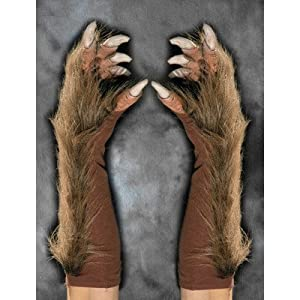 Zagone Studios Men's Wolf Gloves (Brown), Brown, Adult One Size