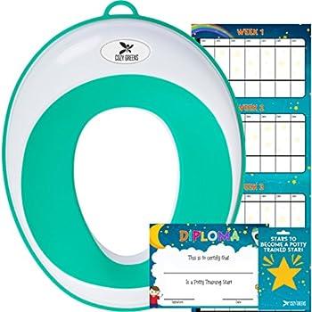 Kid's Potty Training Seat w/Training Chart, eBook & Gift Box