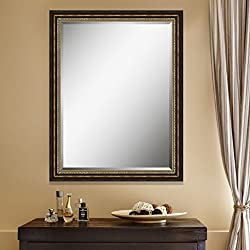 Elegant Arts & Frames Antique Dark Gold Wall Decorative Wood Mirror 18 inch x 24 inch