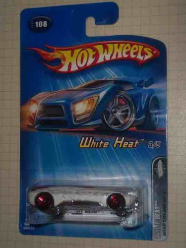 White Heat Series #3 Whip Creamer 2 5-Spoke #2005-108 Collectible Collector Car Mattel Hot Wheels