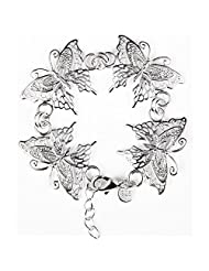 ANDI ROSE Fashion Jewelry 925 Silver Plated Women Cartier Love Bangles Chain Charm Butterfly Bracelet