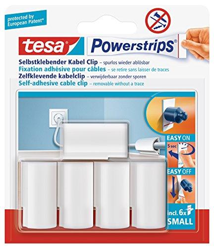 tesa-58035-00016-00-lot-de-5-fixations-pour-cables-powerstrips-avec-6-petits-autocollants-double-fac