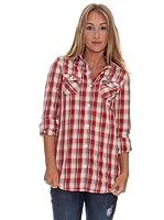 Superdry Camisa Manga Larga (Rojo / Crema)
