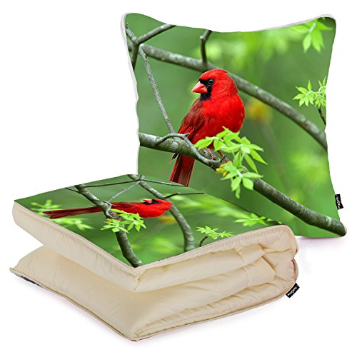 i-famuray-custom-home-and-office-folded-blanket-pillow-animals-birds-cardinal-nature-northern