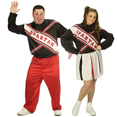 SNL Spartan Cheerleaders Adult Couples Plus Size Costume - Plus Size