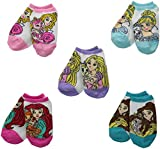 Disney Little Girls' Palace Pets 5 Pack Ankle Socks, Assorted, One Size/5/6.5