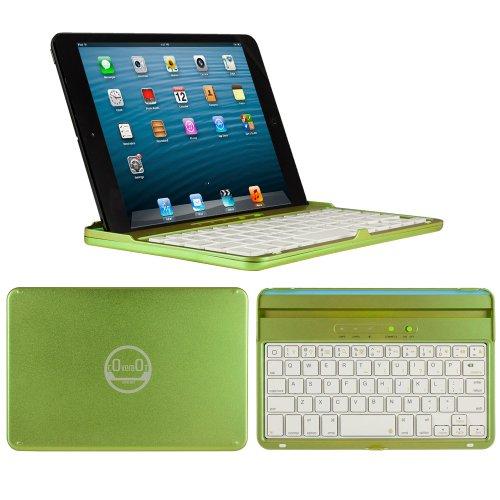 Coverbot Ipad Mini & Ipad Mini With Retina Display Keyboard Case And Stand Apple Green - Aluminum Bluetooth Keyboard Case With Integrated Ios Command Keys For Ipad Mini