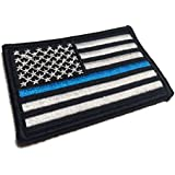 Tactical Police law enforcement Thin Blue Line United States Flag velcro Patch