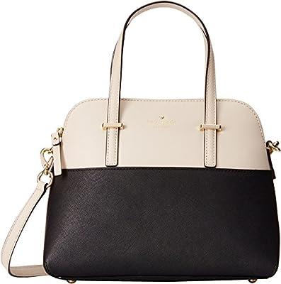 kate spade new york Cedar Street Maise Top Handle Bag, Black/Pebble, One Size