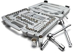 Denali 93-Piece 1/4-, 3/8-, and 1/2-Inch Drive Socket Set, SAE/Metric