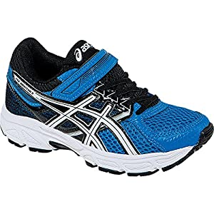 ASICS Pre Contend 3 PS Running Shoe (Little Kid), Electric Blue/White/Black, 1 M US Little Kid