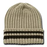 Decky Sweater Beanie Knit Beanie Cap (One Size, Khaki Tan)